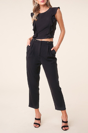 Sugarlips Pleated Cropped Trousers - Front cropped