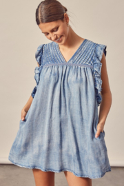 Mustard Seed  Pleated Denim Dress - Product Mini Image