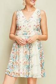 Entro Pleated Floral Dress - Front full body