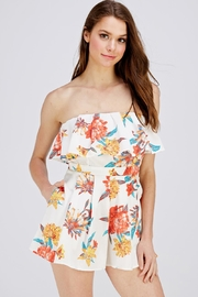 Flying Tomato Pleated Floral Romper - Product Mini Image