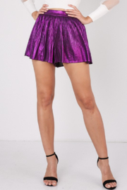 Idem Ditto  Pleated Foil Shorts - Product Mini Image