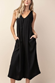 KORI AMERICA Pleated Front Jumpsuit - Product Mini Image