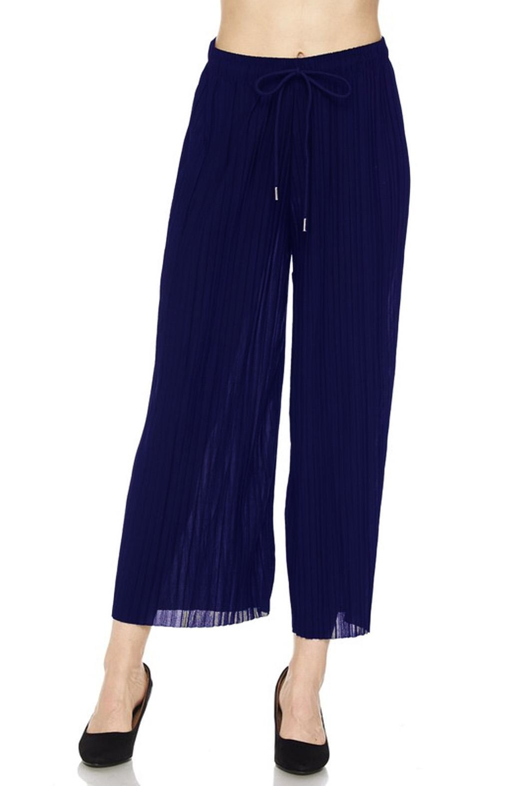 New Mix Pleated Gaucho - Front Cropped Image