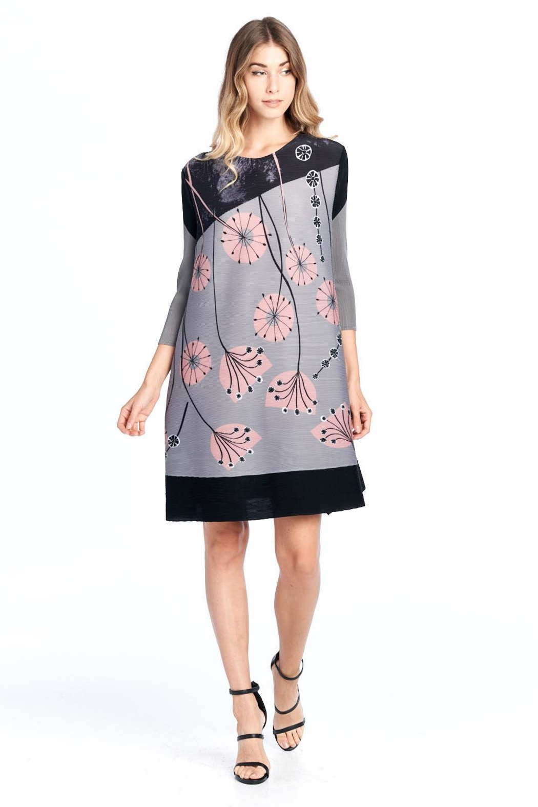 5a080c2050 Nabisplace Pleated Gyasiflower Graydress from California by ...