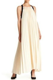 Gracia Pleated Halter Dress - Front cropped
