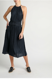 Current Air Pleated halter dress with back cut out - Product Mini Image