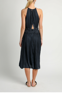 Current Air Pleated halter dress with back cut out - Alternate List Image