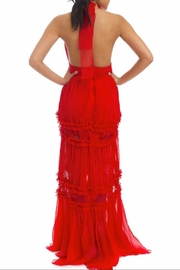 luxxel Pleated Halter Maxi - Front full body