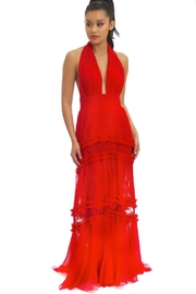 luxxel Pleated Halter Maxi - Product Mini Image
