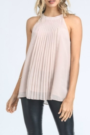 Doe & Rae Pleated Halter Tank - Product Mini Image