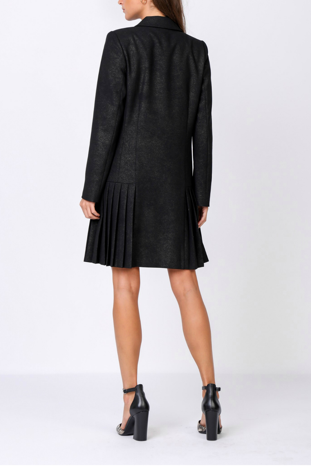 Current Air Pleated hem jacket dress - Front Full Image