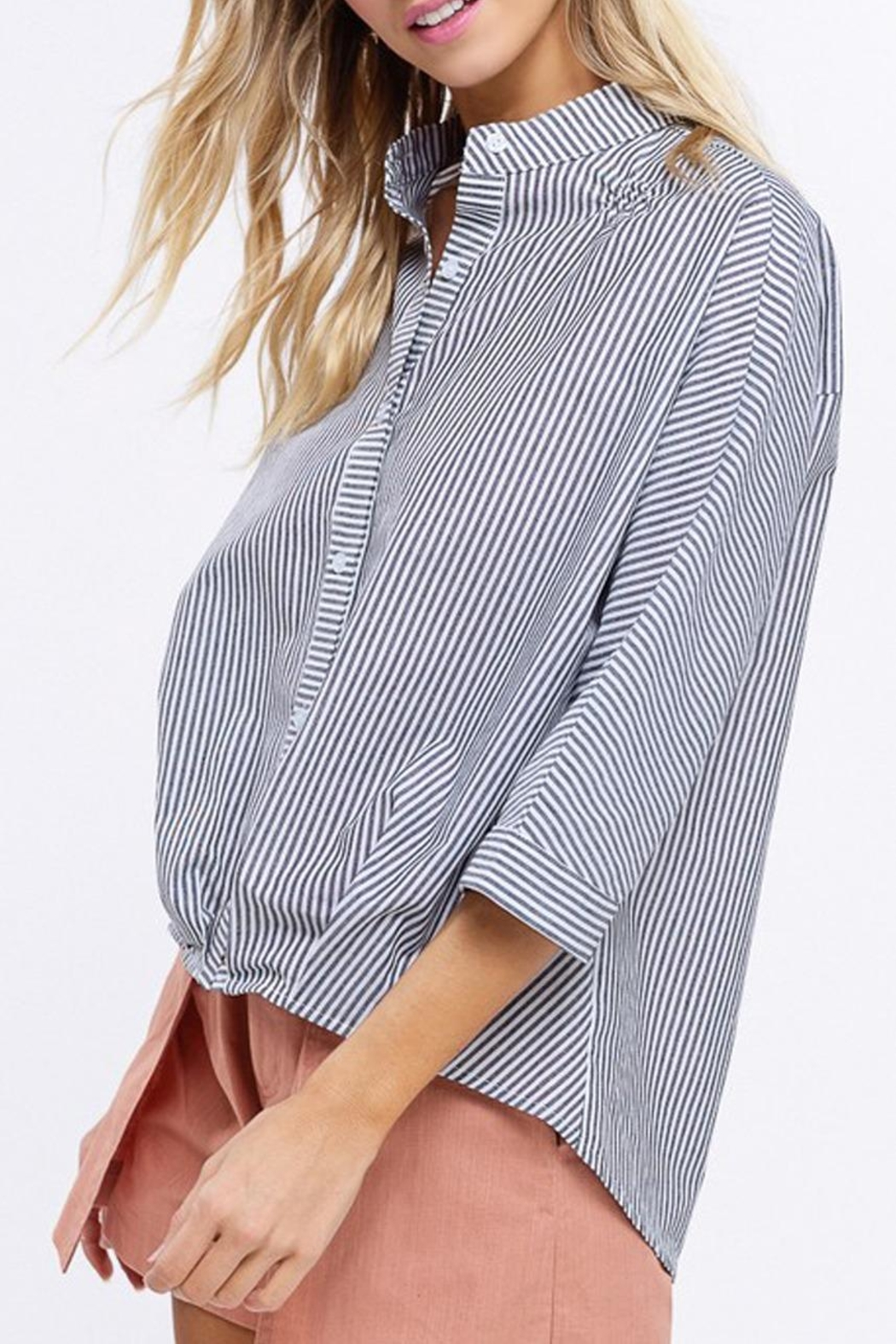 Listicle Pleated Hem Top - Front Full Image