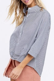 Listicle Pleated Hem Top - Front full body