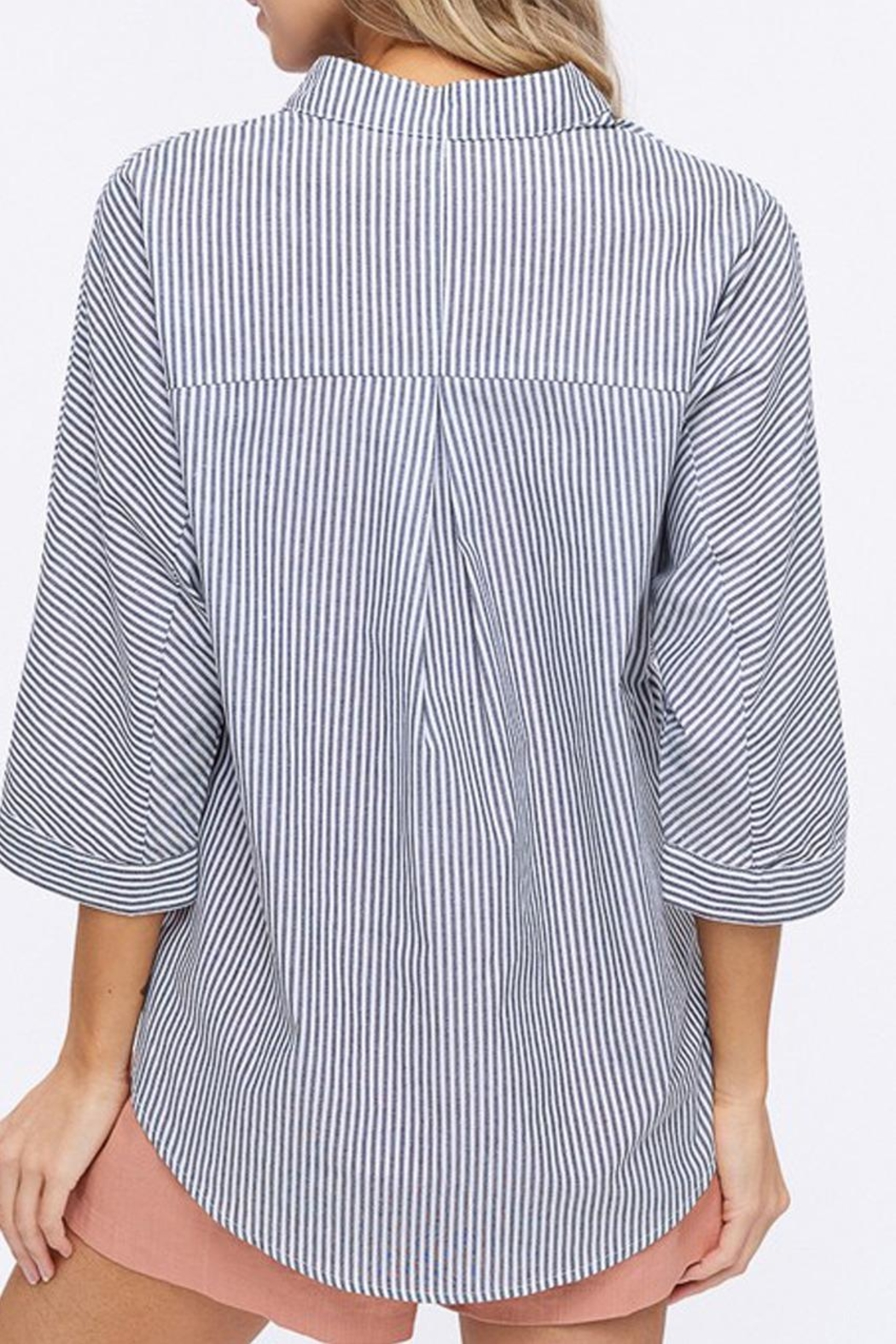Listicle Pleated Hem Top - Side Cropped Image
