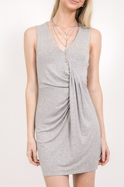 Very J Pleated Jersey Dress - Product Mini Image
