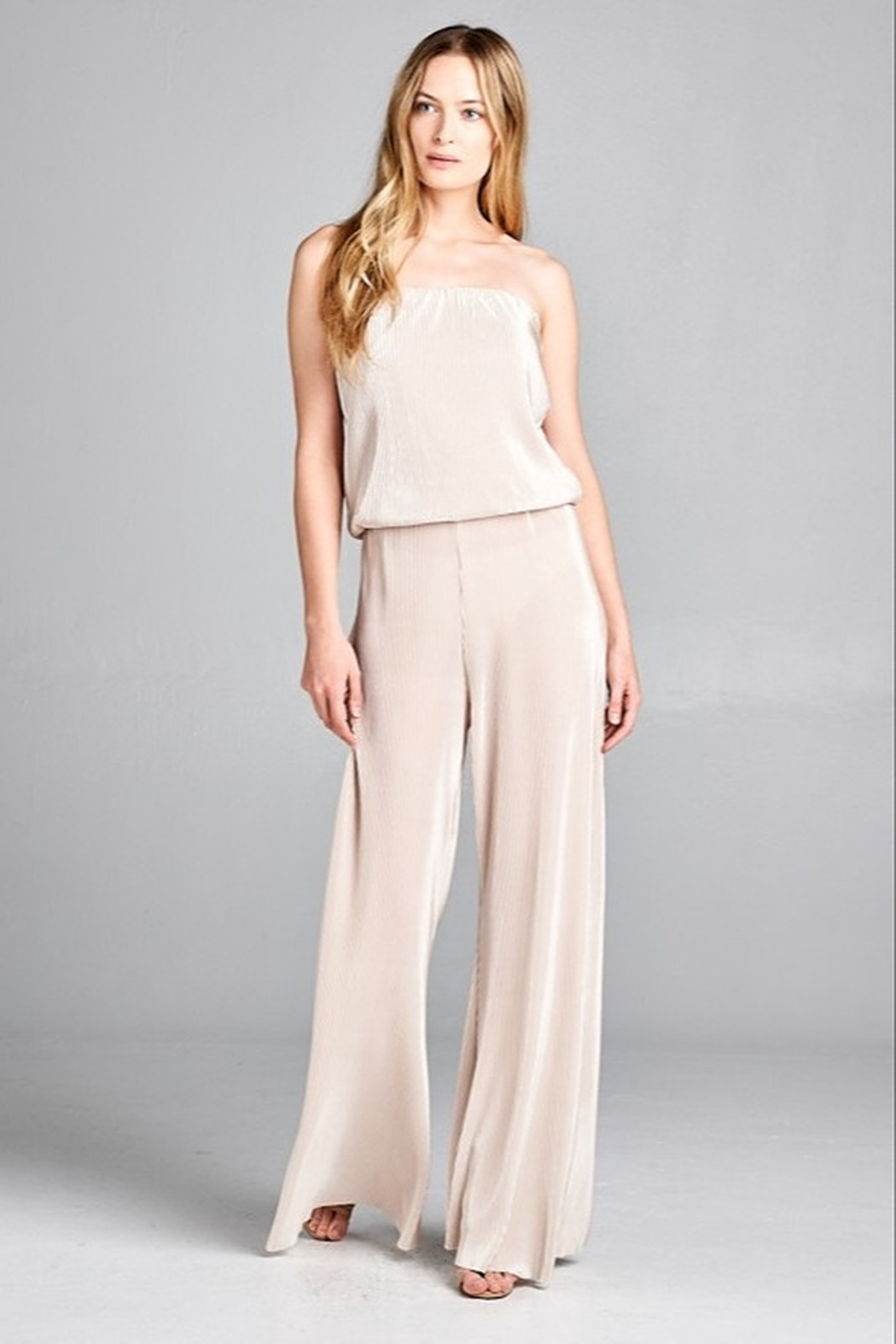 Jane + One Pleated Jumpsuit - Front Cropped Image