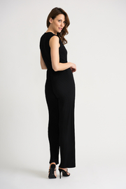 Joseph Ribkoff USA Inc. Pleated Jumpsuit w attached belt - Side cropped