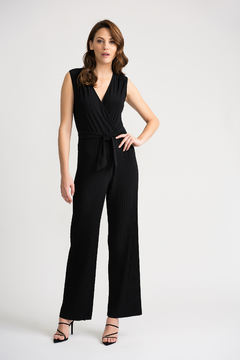 Joseph Ribkoff USA Inc. Pleated Jumpsuit w attached belt - Product List Image