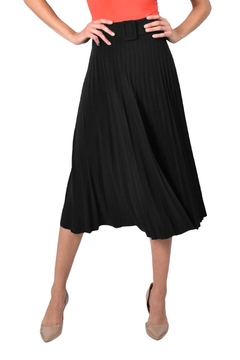 Frank Lyman Pleated Knee Length  Skirt With Belt - Product List Image