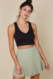 blue blush Pleated Knit Skirt - Front cropped