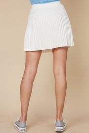 blue blush Pleated Knit Skirt - Side cropped