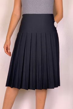 Mossaic Pleated Knit Skirt - Alternate List Image