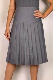 Mossaic Pleated Knit Skirt - Front cropped