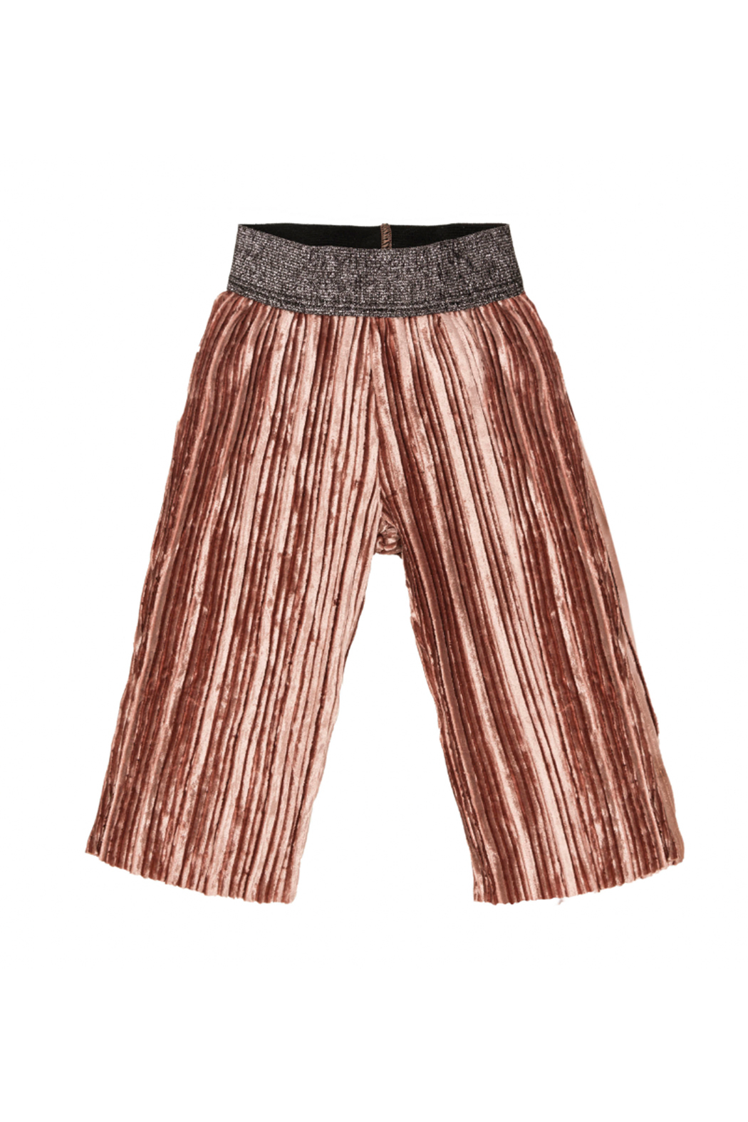 EMC Pleated Knit Velour Trousers - Main Image
