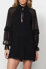Stevie May Pleated L/s Dress - Product Mini Image