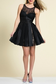 Dave and Johnny Pleated Lace Dress - Product Mini Image