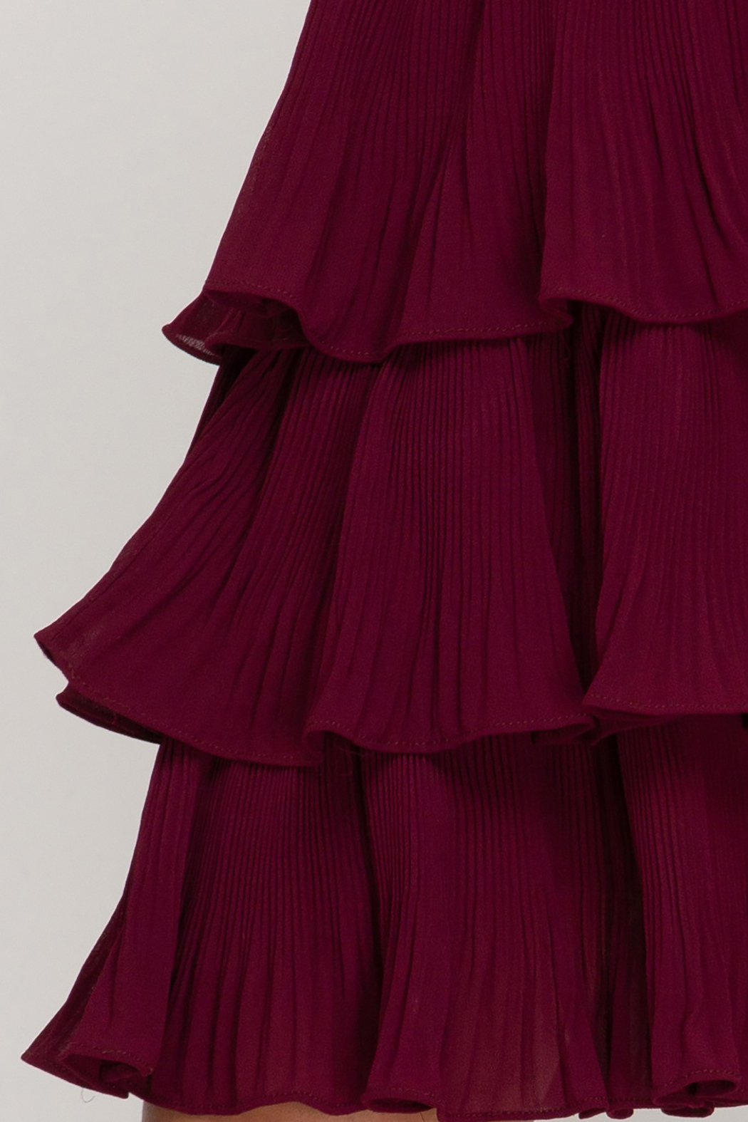 She and Sky Pleated Layer Dress - Back Cropped Image