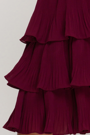 She and Sky Pleated Layer Dress - Back cropped