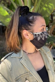 Lotus and Luna Pleated Mandala Paisley Face Mask - Front cropped