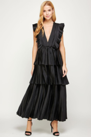 Strut & Bolt Pleated Maxi Dress - Front cropped