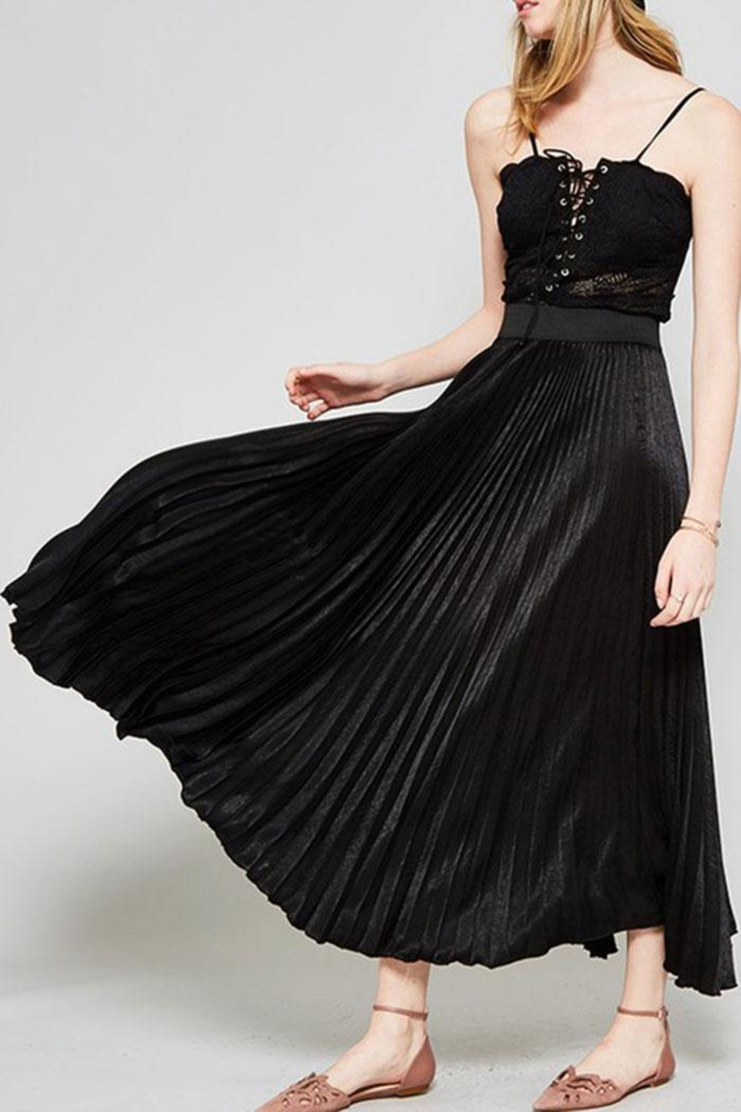 6c7a03bed19e7d Promesa USA Pleated Maxi Skirt from California by Nadya's Closet ...