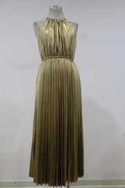 Minuet Pleated Metallic Midi Dress - Product Mini Image