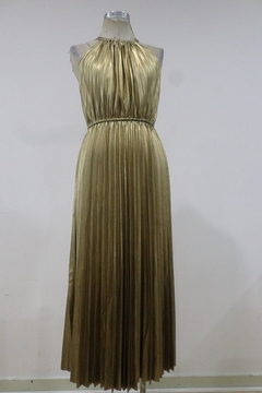 Shoptiques Product: Pleated Metallic Midi Dress