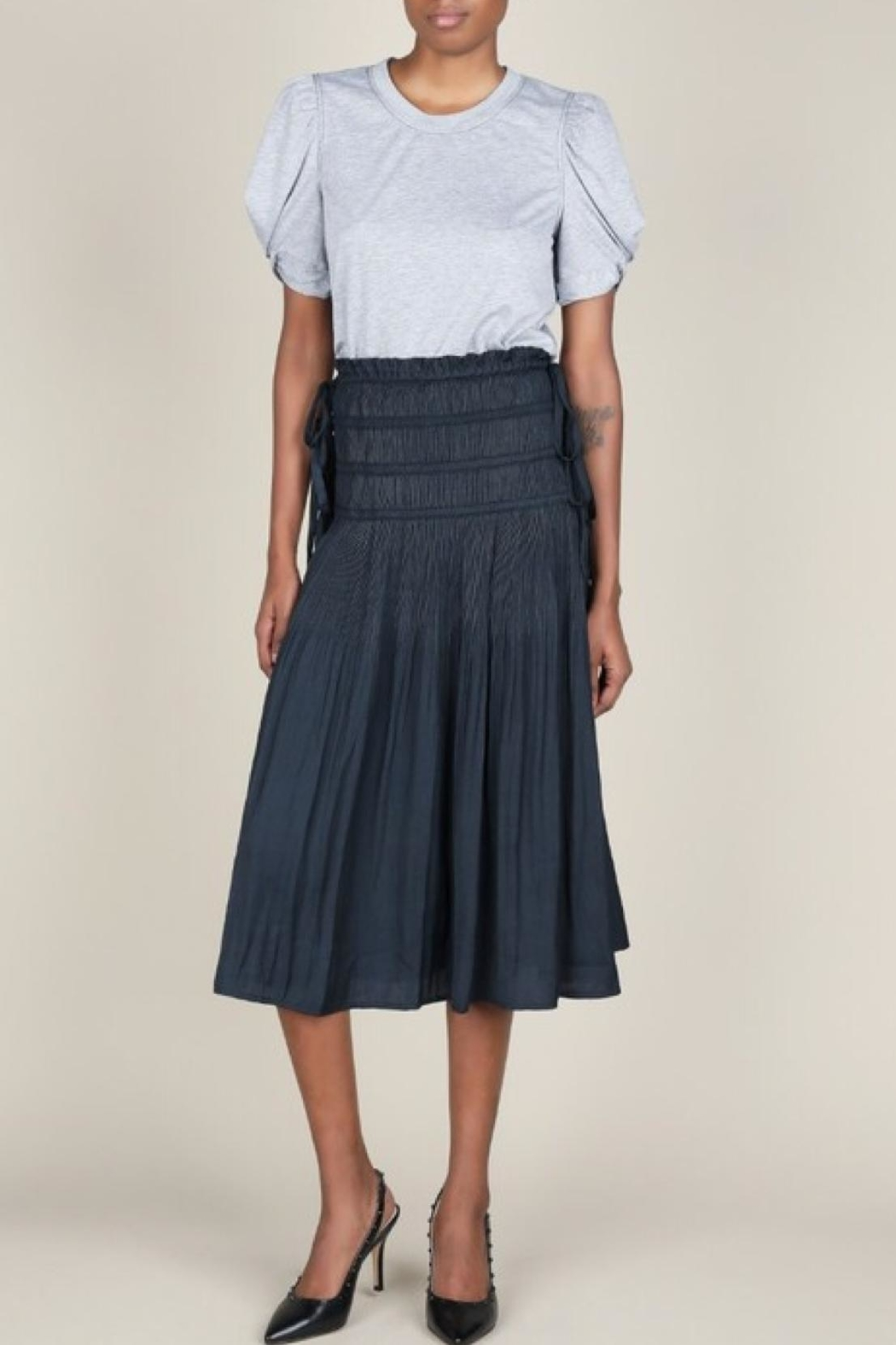 Current Air Pleated Midi Skirt - Main Image