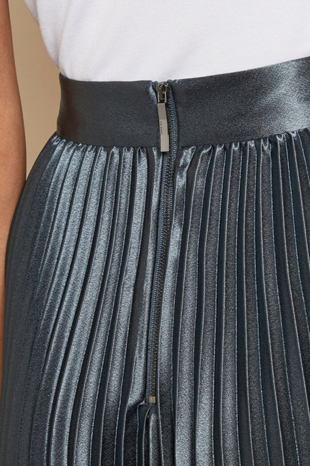 Ted Baker Pleated Midi Skirt - Side Cropped Image