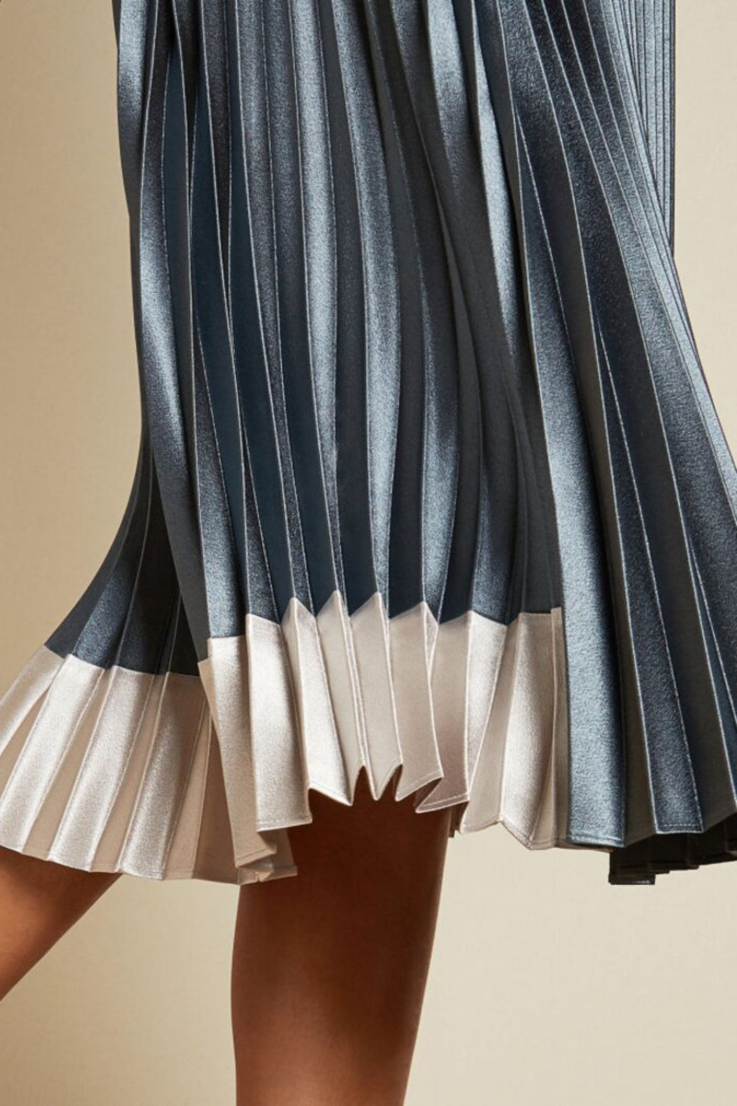 Ted Baker Pleated Midi Skirt - Back Cropped Image