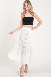 Allie Rose Pleated Midi Skirt - Front cropped