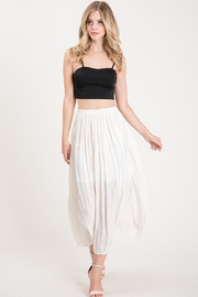 Allie Rose Pleated Midi Skirt - Front full body