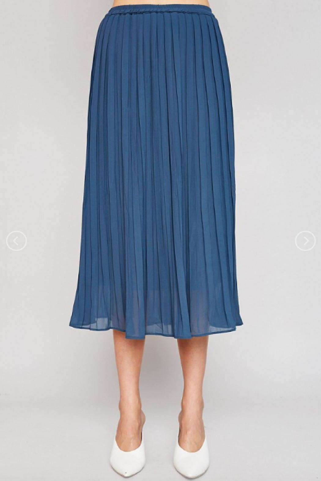 Hayden Los Angeles Pleated Midi Skirt - Front Cropped Image