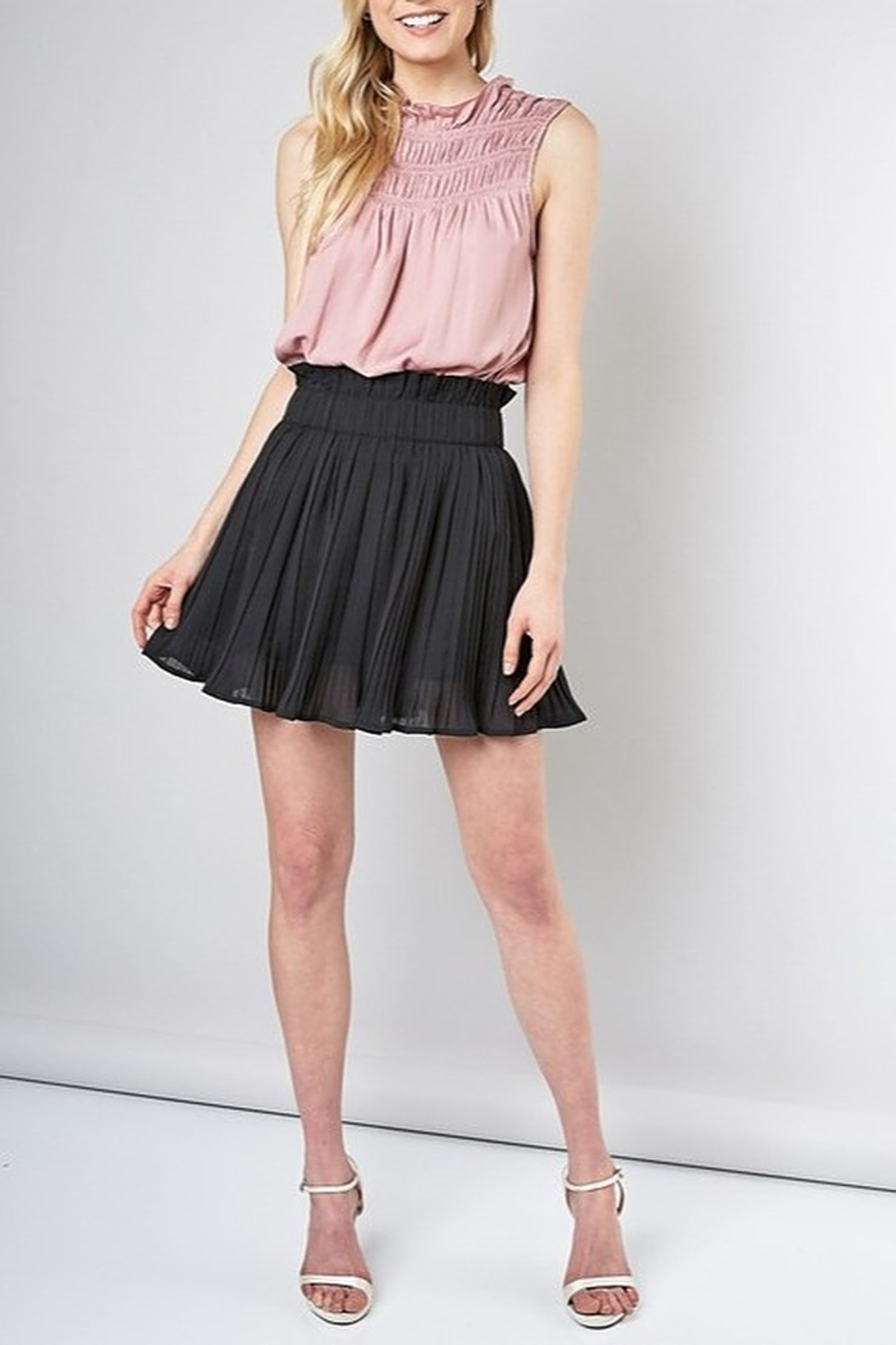 Do & Be Pleated Mini Skirt - Front Cropped Image