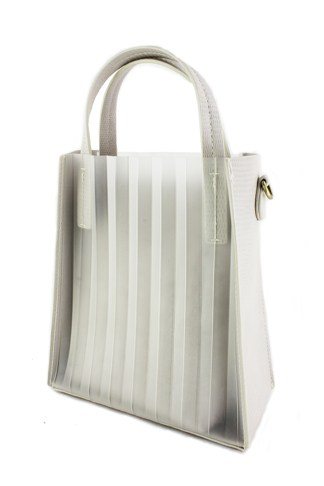 Street Level Pleated Mini Tote - Front Cropped Image