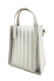 Street Level Pleated Mini Tote - Front cropped
