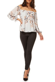 Black Tape/Dex Pleated OTS Floral Blouse - Product Mini Image