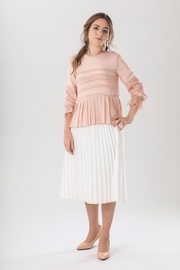 Luxe Label Pleated Pink Shimmer Top - Product Mini Image