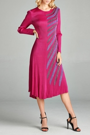 Nabisplace Pleated Pinklayla  Longdress - Product Mini Image