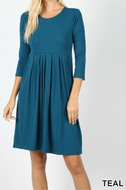 Zenana Pleated Pocket Dress - Product Mini Image